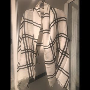 NWT J Crew Windowpane Wrap Shawl or Scarf